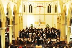 In concert with PUCS at St Joseph's Church, Subiaco