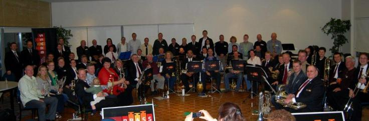Old and new players celebrate WA Brass's 50th anniversary in 2010.