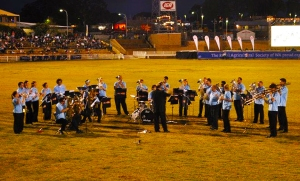 WA Brass entertains the crowd on the main arena at the Perth Royal Show