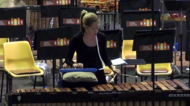 Guest Soloist Louise Devenish showing her combined Marimba and Melodian skills