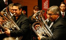 Euphonium Legends David and Robert Childs perform with the band
