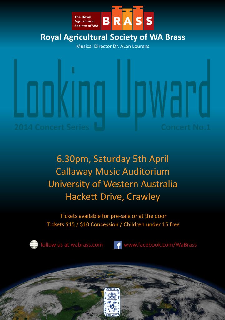 Looking Upward Concert Flyer